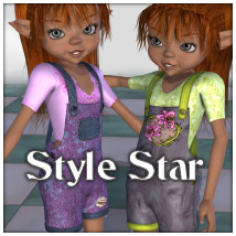 Style Star Clothing Themed Stand Alone Figures JudibugDesigns