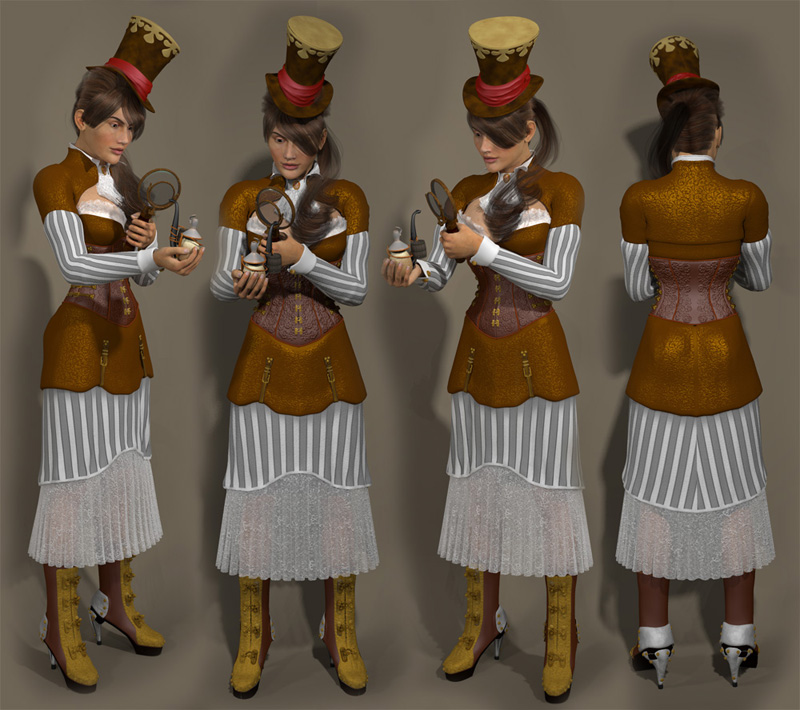 Dawn Steampunk Dress