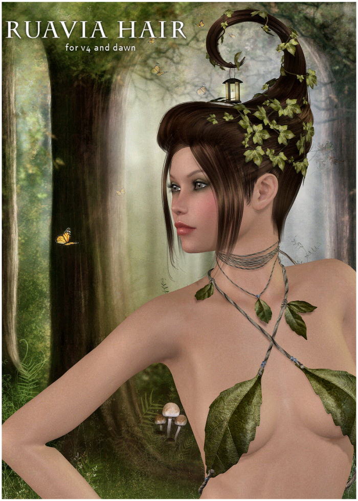 Ruavia Hair for V4, Dawn