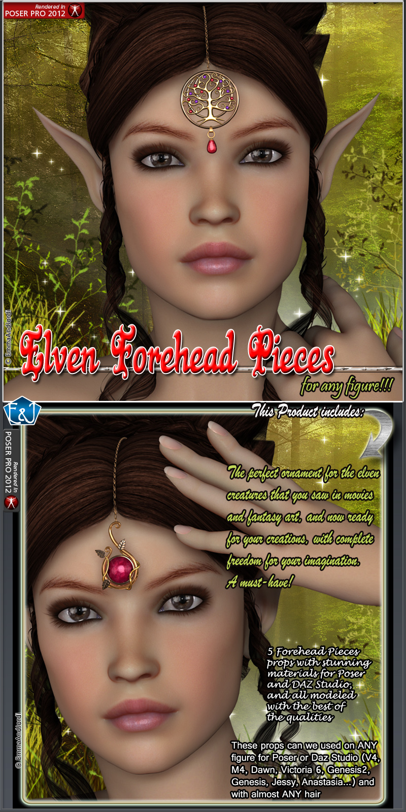 Elven Forehead Pieces For Any Figure
