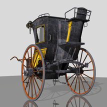 MS13 Hansom Cab 3D Models London224