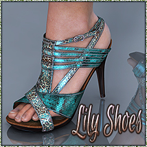 NYC Collection: Lily High Heels 3D Figure Assets 3DSublimeProductions