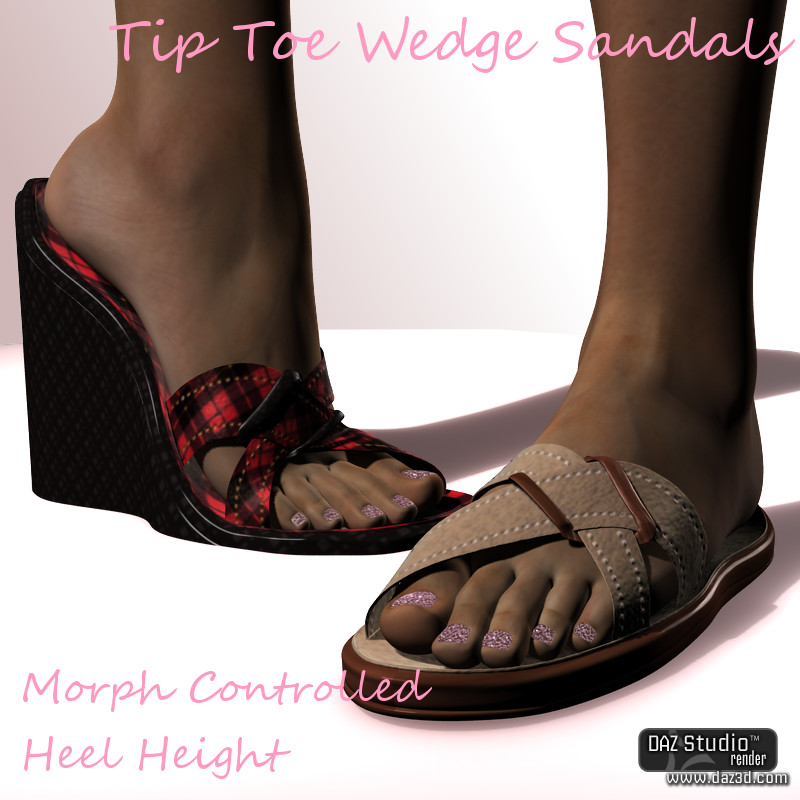 Tip Toe Wedge Sandals for Dawn