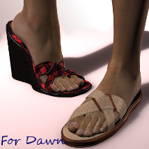 Tip Toe Wedge Sandals for Dawn 3D Figure Essentials Phoenix_Fallen