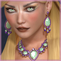 Dazzle for GCD Jewelry Set 1 3D Figure Assets 3D Models -Wolfie-