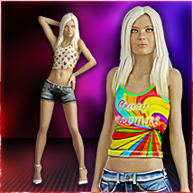 Slide3D Francesca JT CutOff Themed Clothing Slide3D
