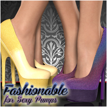 Fashionable for Sexy Pumps 3D Figure Essentials Atenais