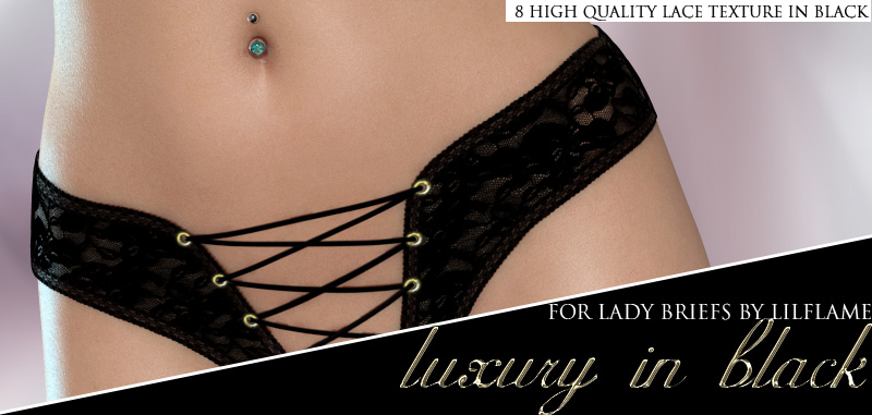 Luxury in Black - Lady Briefs