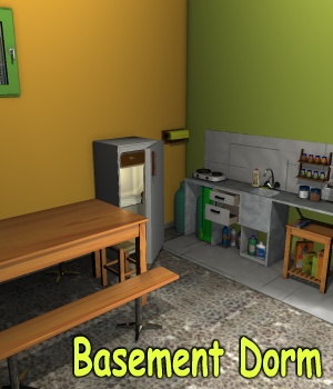 Basement Dorm 3D Models greenpots