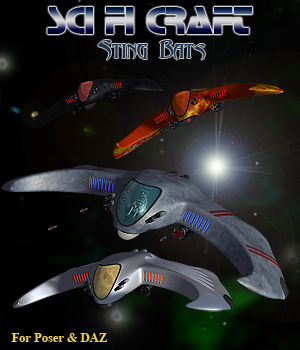 Sting Bats SciFi  Craft 3D Models Simon-3D