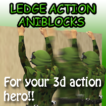 Ledge Action Aniblocks 3D Figure Essentials ka06059