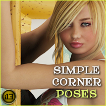 i13 Simple Corner POSES 3D Figure Assets ironman13