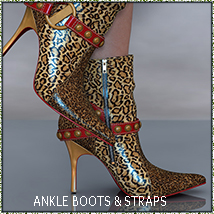 NYC Collection: Ankle Boots 3D Figure Essentials 3DSublimeProductions