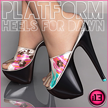 i13 3dsp DAWN Platform Heels Footwear Clothing Software ironman13