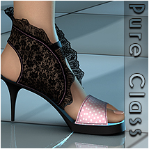 Pure Class for Ruffle Heels Footwear Themed Sveva