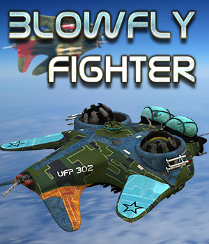 Blowfly Fighter 3D Models Cybertenko