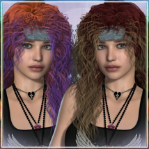 Addictive 1984 Hair 3D Figure Assets 3D Models OziChick