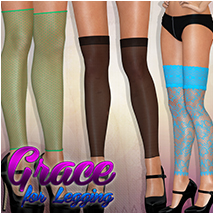 Grace for Legging 3D Figure Assets Atenais