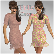 Frills, Dress 3D Figure Essentials 3D Models TT