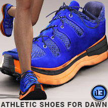 i13 Athletic Shoes DAWN 3D Figure Assets ironman13
