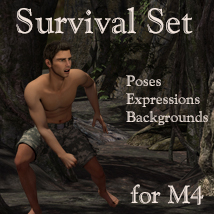 Survival set for M4 3D Figure Assets 2D Graphics Leije