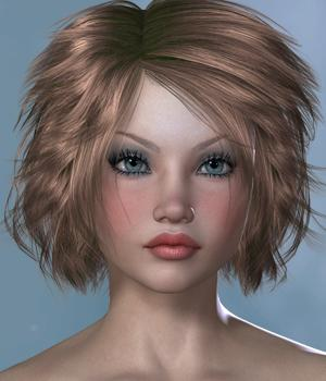 Laval Hair for V4 and G1 3D Figure Essentials SWAM