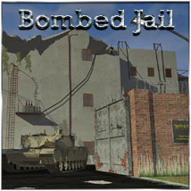 Bombed Jail Props/Scenes/Architecture Themed Software 3-d-c
