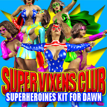 Dawn Super Vixens Club 3D Figure Assets 3D Models powerage