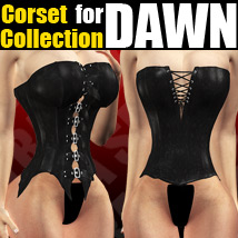 Corset Collection For Dawn 3D Figure Assets powerage