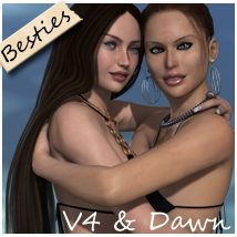 Besties for V4 and Dawn 3D Figure Essentials nikisatez