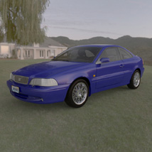 Volvo C70 (Poser and Vue) 3D Models Digimation_ModelBank