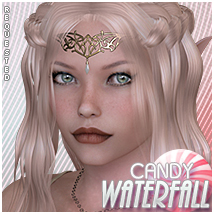 Candy Waterfall Braid Themed Hair Sveva