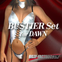 Dawn BUSTIER Set 3D Figure Assets billy-t