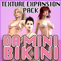 DA Mini Bikini - Texture Expansion Clothing Software Razor42