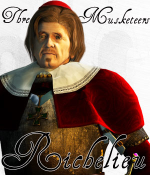 Three Musketeers - Richelieu 3D Figure Assets 3D Models Cybertenko
