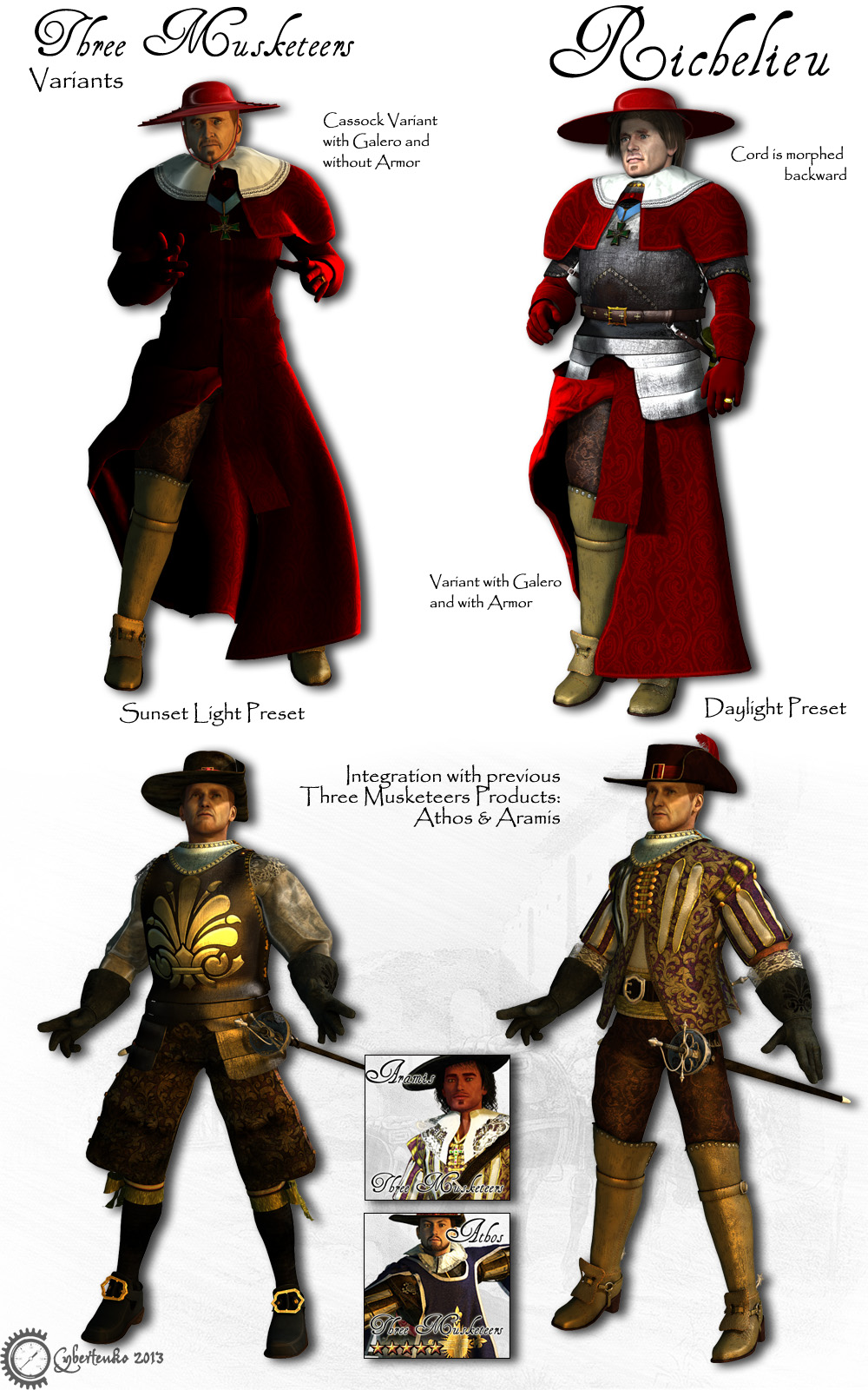 The Three Types Of Totalitarian Systems: Richelieu 3D Figure Assets 3D Models