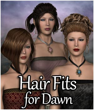RPublishing Hair Fits for Dawn 3D Figure Assets RPublishing