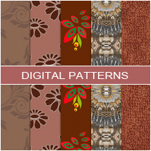 Digital Patterns - Brown 2D Atenais