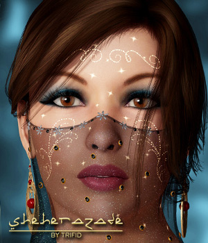 TF Sheherazade for V4 3D Figure Assets 3D Models Trifid