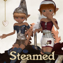 Steamed Mushroom Clothing Themed Stand Alone Figures JudibugDesigns