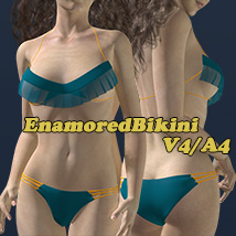 EnamoredBikini 3D Figure Essentials 2Fingers