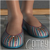 Comfy for Dawn Flats Themed Footwear OziChick
