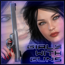 Girls With Guns Themed Poses/Expressions Software lunchlady