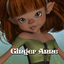 Ginger Anne Stand Alone Figures Characters Themed JudibugDesigns