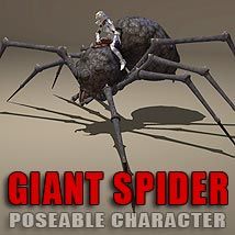Giant Spider Themed Animals Stand Alone Figures coflek-gnorg