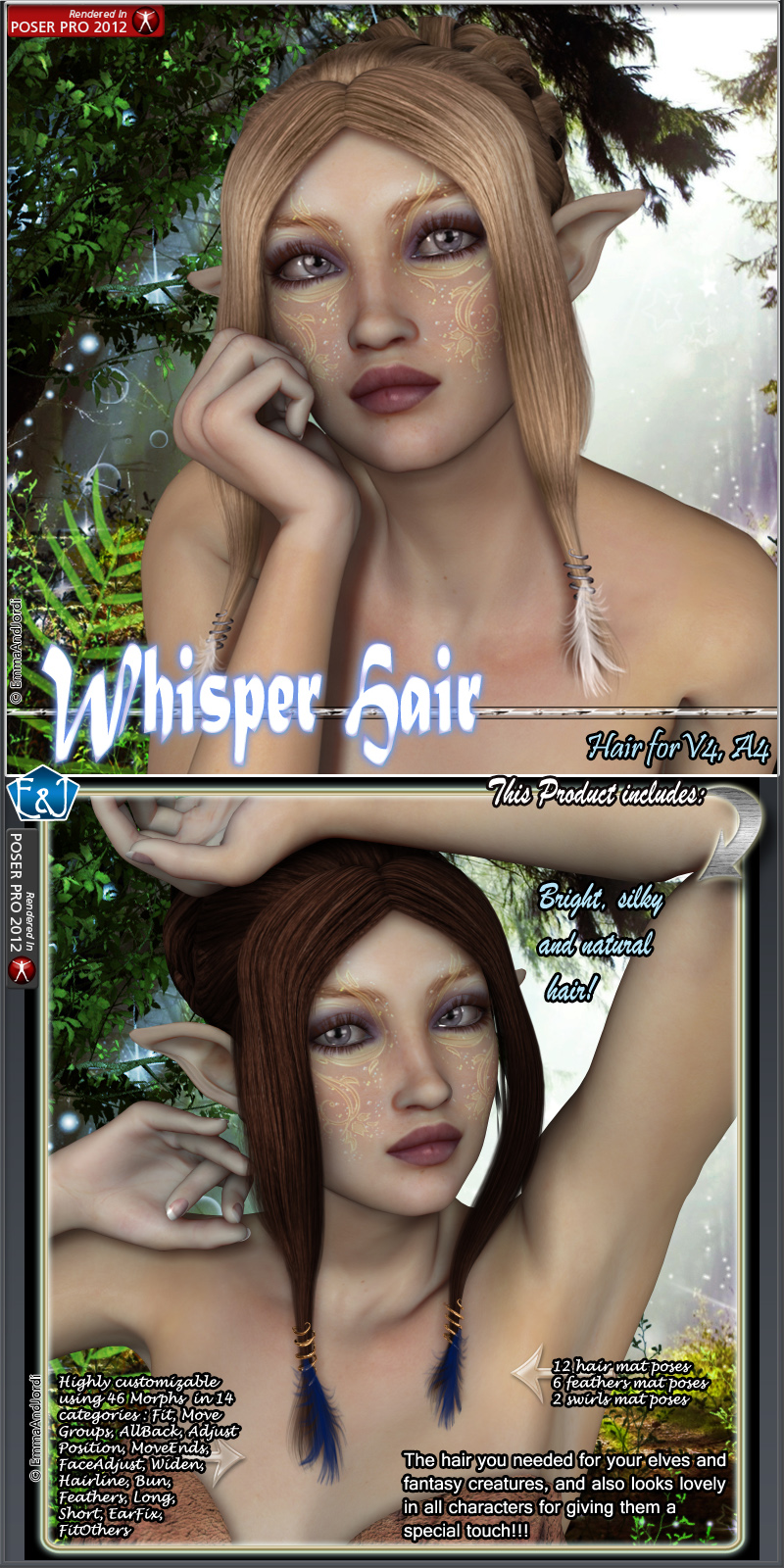 Whisper Hair For V4 And A4