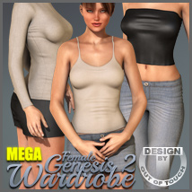 Genesis 2 Female's MEGA Wardrobe - V6/G6/Gia Clothing Themed outoftouch