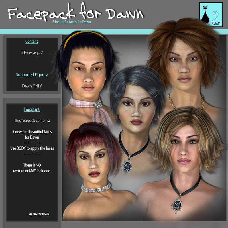 SWAM Facepack 1: for Dawn