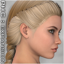 PHC : HR-113 Themed Hair P3D-Art