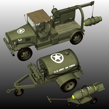 US WW2 AIRPORT BUNDLE( forPoser) 3D Models Nationale7